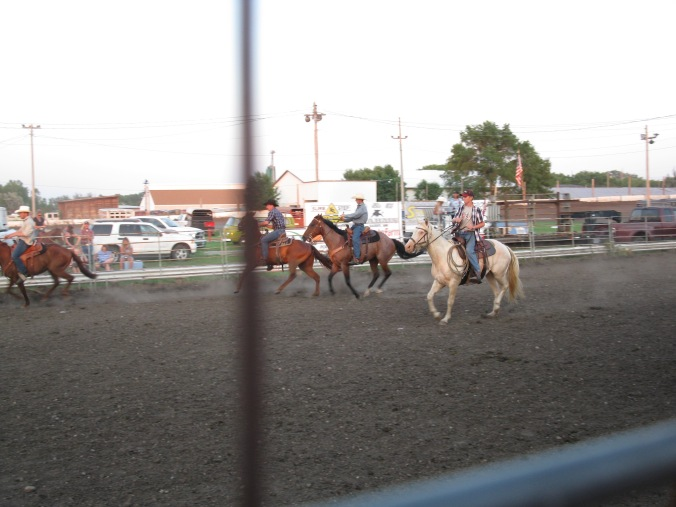 Jordan competing in a ranch rodeo.