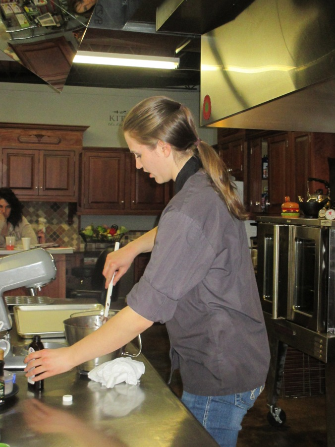 Me giving one of my many cooking classes.
