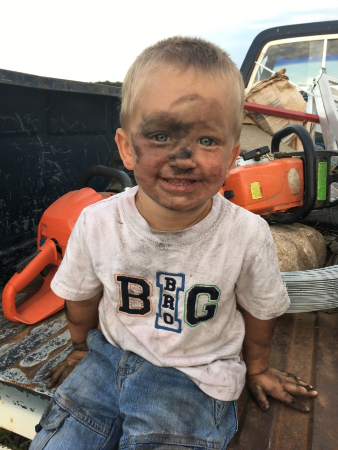 Farm boys like to get dirty!