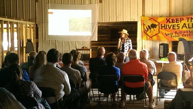 jessica-sharing-about-helping-polinators-at-k-creek-ranch